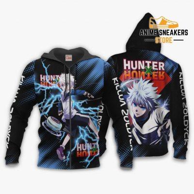 Killua Zoldyck Shirt Hunter X Custom Anime Hoodie Jacket Zip / S All Over Printed Shirts