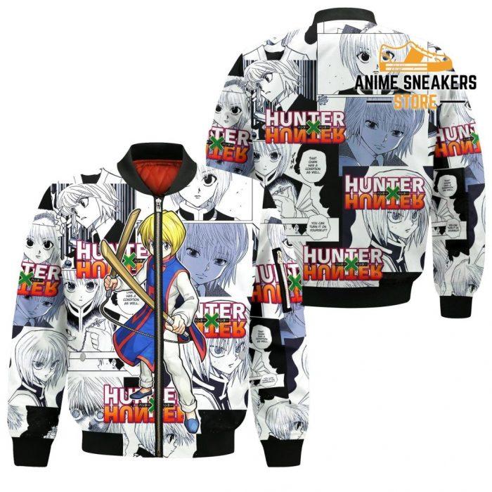 Kurapika Hunter X Shirt Sweater Hxh Anime Hoodie Manga Jacket Bomber / S All Over Printed Shirts