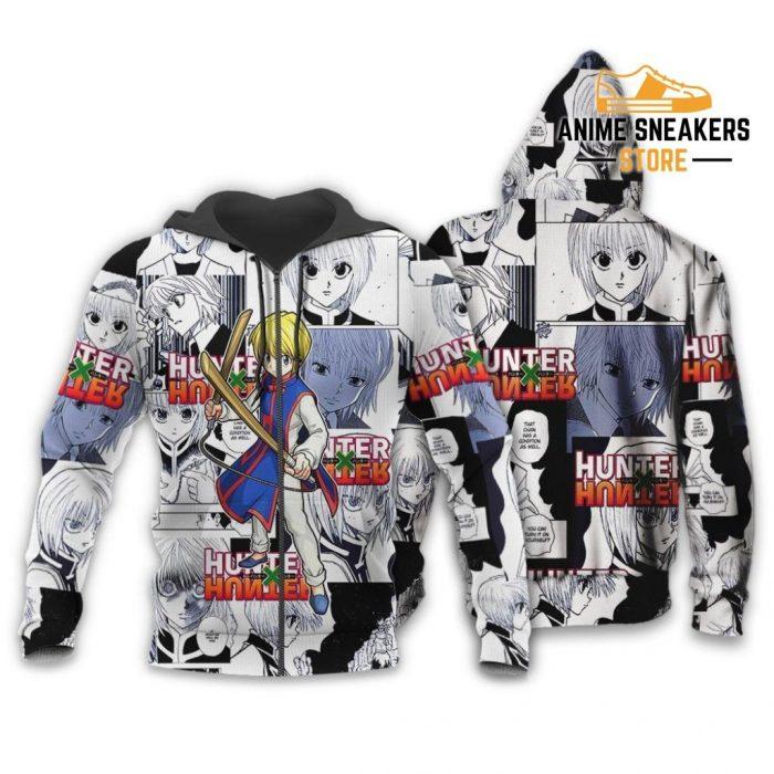 Kurapika Hunter X Shirt Sweater Hxh Anime Hoodie Manga Jacket Zip / S All Over Printed Shirts
