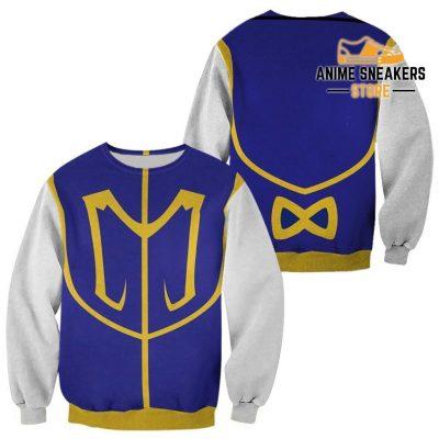 Kurapika Hunter X Uniform Shirt Hxh Anime Hoodie Jacket Sweater / S All Over Printed Shirts