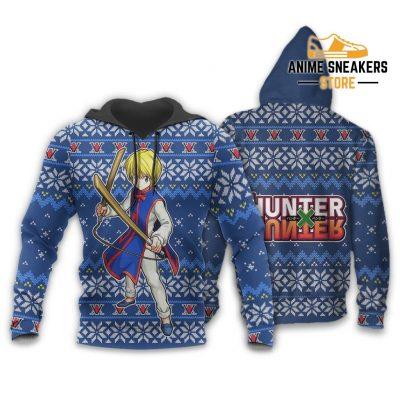 Kurapika Ugly Christmas Sweater Hunter X Anime Xmas Gift Custom Clothes Hoodie / S All Over Printed