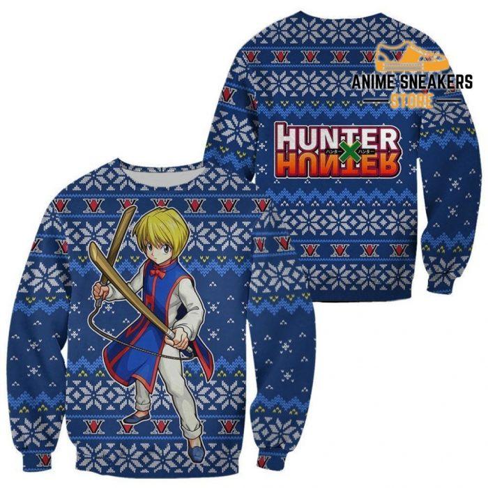 Kurapika Ugly Christmas Sweater Hunter X Anime Xmas Gift Custom Clothes / S All Over Printed Shirts