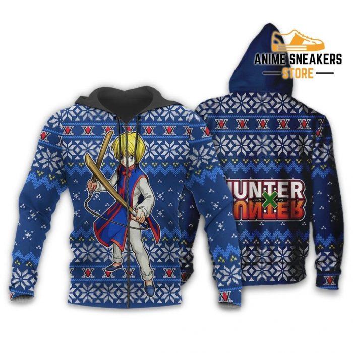 Kurapika Ugly Christmas Sweater Hunter X Anime Xmas Gift Custom Clothes Zip Hoodie / S All Over