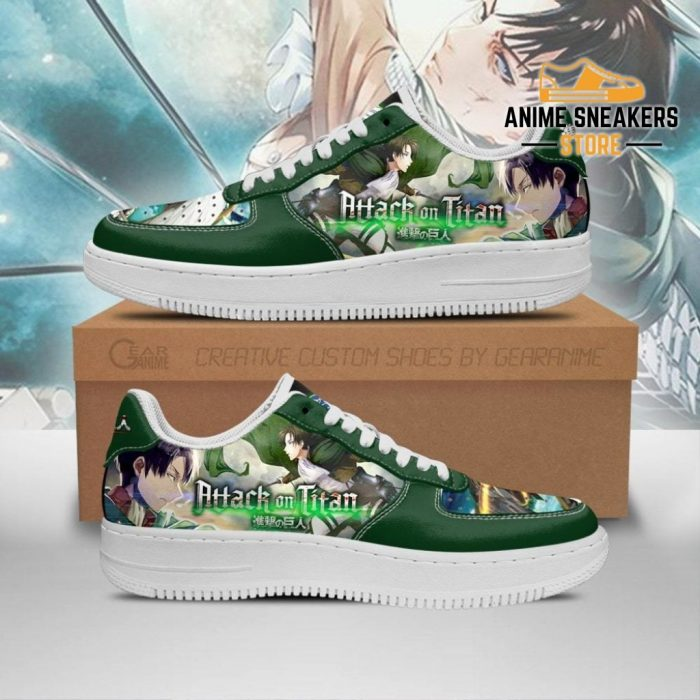 Levi Ackerman Attack On Titan Sneakers Aot Anime Shoes Men / Us6.5 Air Force