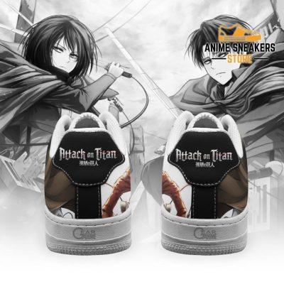Levi And Mikasa Ackerman Shoes Aot Custom Anime Sneakers Pt11 Air Force