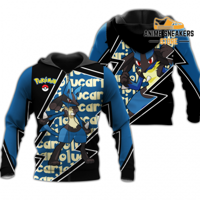Lucario Zip Hoodie Costume Pokemon Shirt Fan Gift Idea Va06 Adult / S All Over Printed Shirts