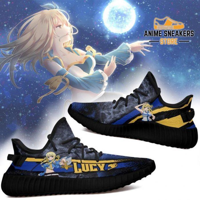 Lucy Yeezy Shoes Custom Fairy Tail Anime Sneakers Fan Gift Idea Tt05