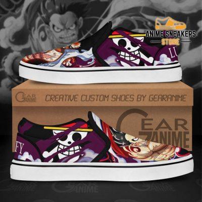 Luffy Gear 4 Slip On Shoes One Piece Custom Anime Slip-On