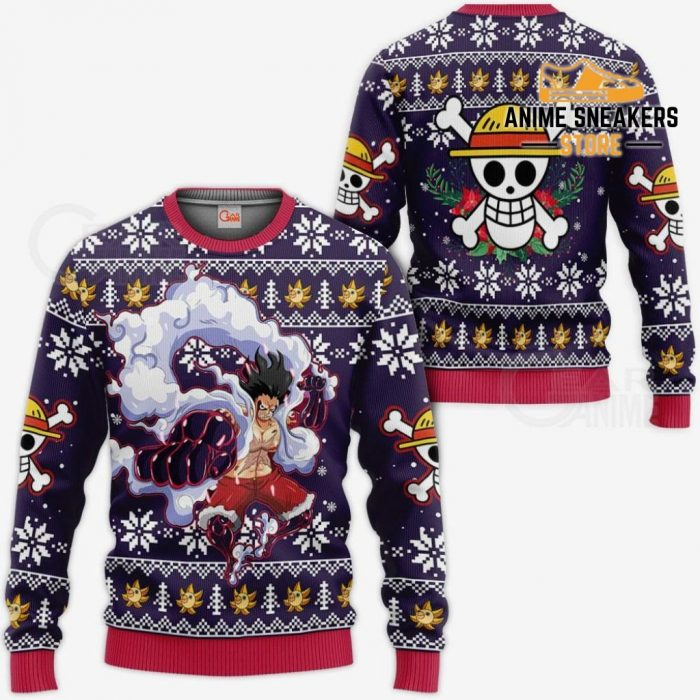 Luffy Gear 4 Ugly Christmas Sweater One Piece Anime Xmas Gift Va10 / S All Over Printed Shirts