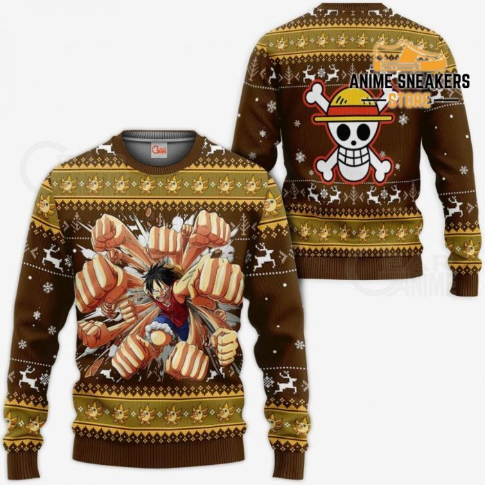 Luffy Gomu Ugly Sweater Xmas One Piece Anime Chrismast Gift Va10 / S All Over Printed Shirts