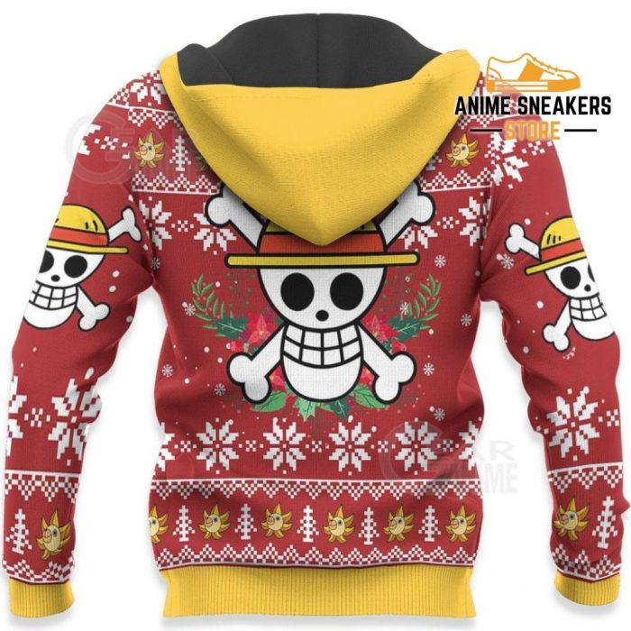 Luffy Ugly Christmas Sweater Funny Face One Piece Anime Xmas Gift Va10 All Over Printed Shirts