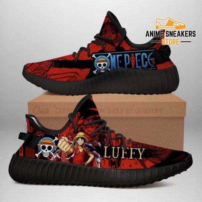 Luffy Yeezy Shoes One Piece Anime Fan Gift Tt04 Men / Us6