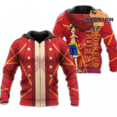 Luffy Zip Hoodie Cosplay One Piece Shirt Anime Fan Gift Idea Va06 Adult / S All Over Printed Shirts