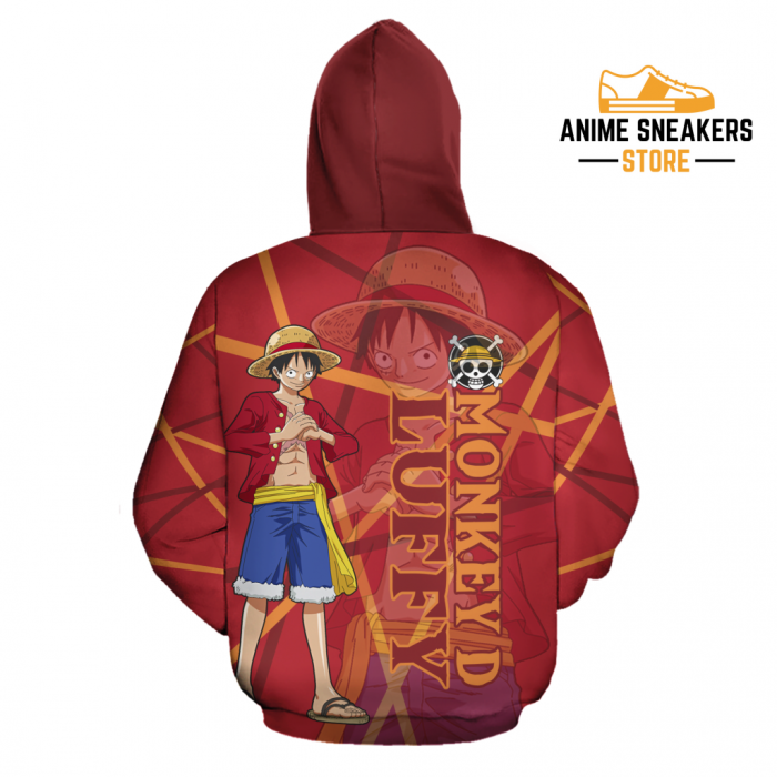 Luffy Zip Hoodie Cosplay One Piece Shirt Anime Fan Gift Idea Va06 All Over Printed Shirts
