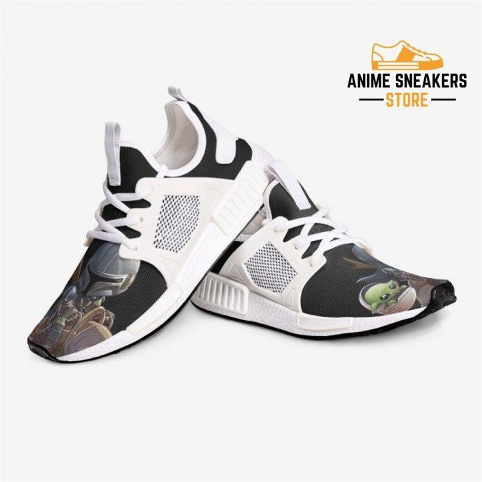 Mandalorian Chibi Baby Yoda Custom Nomad Shoes Mens