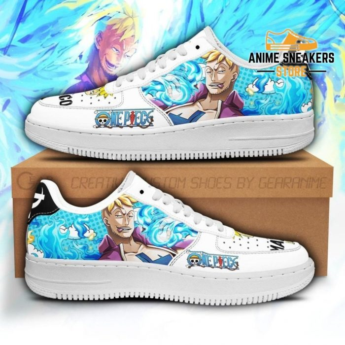 Marco Sneakers Custom One Piece Anime Shoes Fan Pt04 Men / Us6.5 Air Force