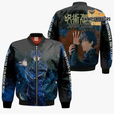 Megumi Fushiguro Hoodie Shirt Jujutsu Kaisen Custom Anime Jacket Bomber / S All Over Printed Shirts