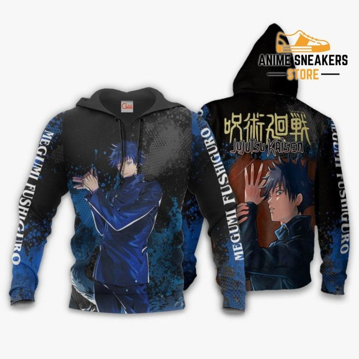 Megumi Fushiguro Hoodie Shirt Jujutsu Kaisen Custom Anime Jacket / S All Over Printed Shirts