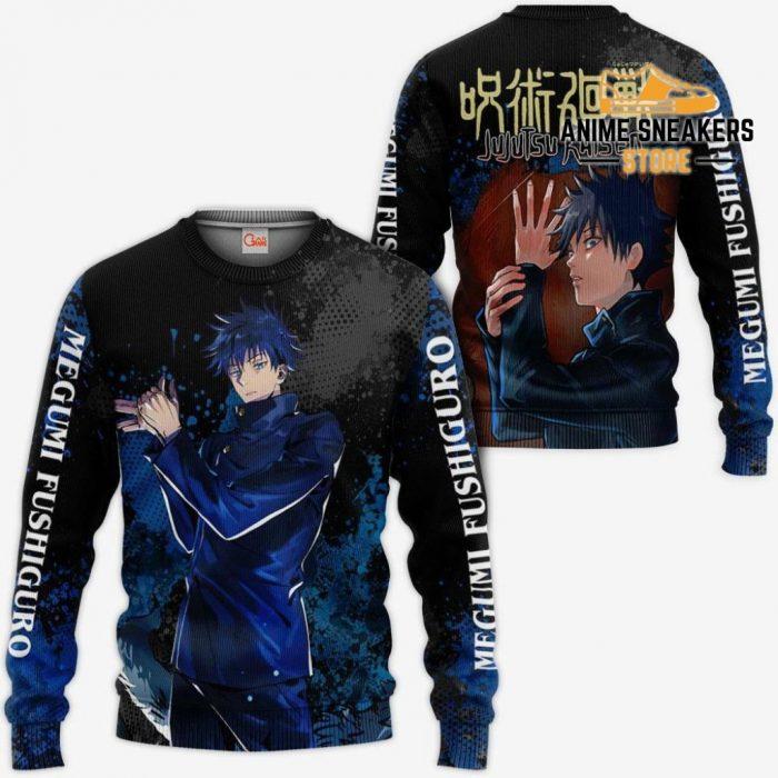 Megumi Fushiguro Hoodie Shirt Jujutsu Kaisen Custom Anime Jacket Sweater / S All Over Printed Shirts