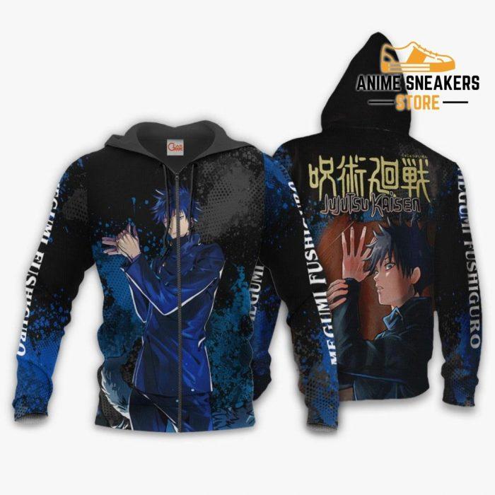 Megumi Fushiguro Hoodie Shirt Jujutsu Kaisen Custom Anime Jacket Zip / S All Over Printed Shirts
