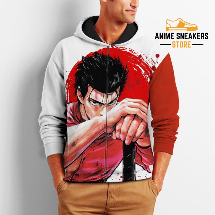 Metal Bat Zip Hoodie One Punch Man Anime Costume Shirt Fan Gift Va06 All Over Printed Shirts