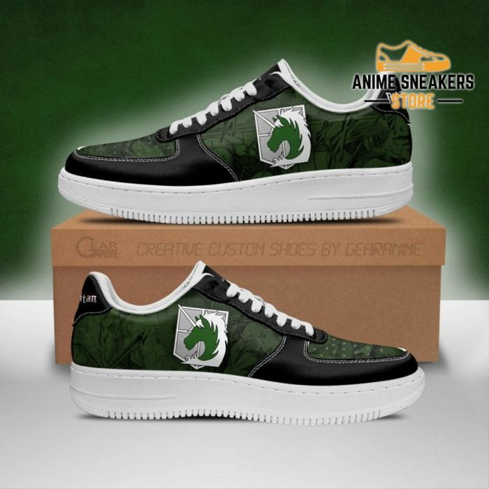 Aot Military Police Sneakers Attack On Titan Anime Shoes Men / Us6.5 Air Force