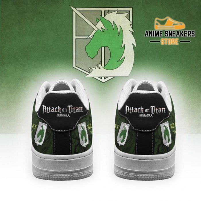 Aot Military Slogan Sneakers Attack On Titan Anime Shoes Air Force