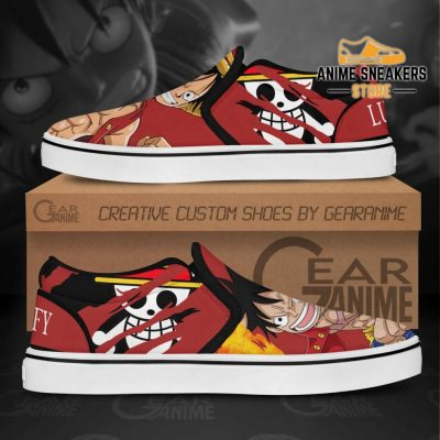 Monkey D Luffy Slip On Shoes One Piece Custom Anime Slip-On