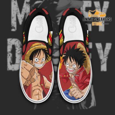 Monkey D Luffy Slip On Shoes One Piece Custom Anime Men / Us6 Slip-On