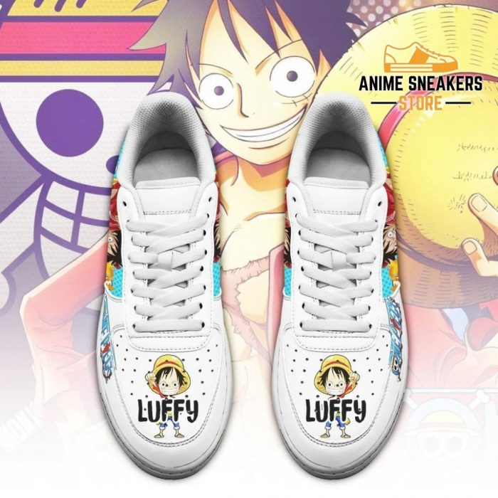 Monkey D Luffy Sneakers Custom One Piece Anime Shoes Fan Pt04 Air Force