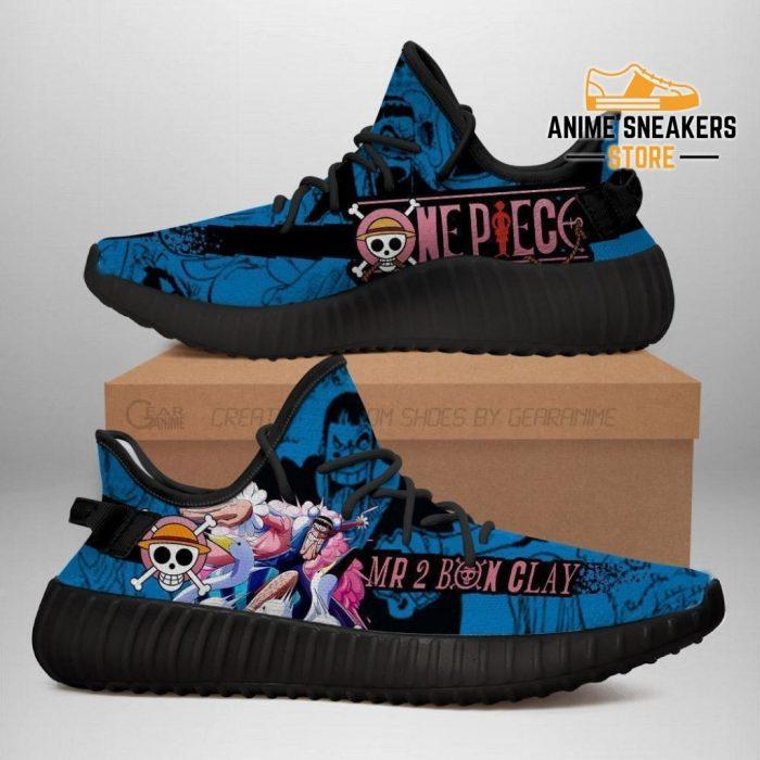 Mr 2 Bon Clay Yeezy Shoes One Piece Anime Fan Gift Tt04 Men / Us6
