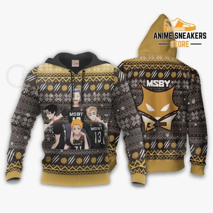Msby Black Jackals Ugly Christmas Sweater Haikyuu Anime Xmas Gift Va10 Hoodie / S All Over Printed
