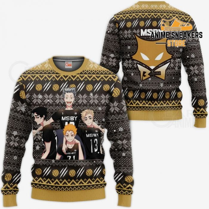 Msby Black Jackals Ugly Christmas Sweater Haikyuu Anime Xmas Gift Va10 / S All Over Printed Shirts