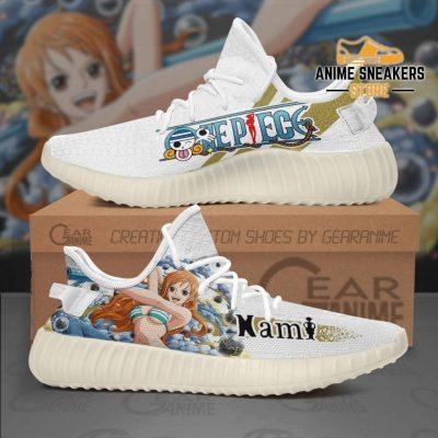 Nami Shoes One Piece Custom Anime Sneakers Tt10 Men / Us6 Yeezy