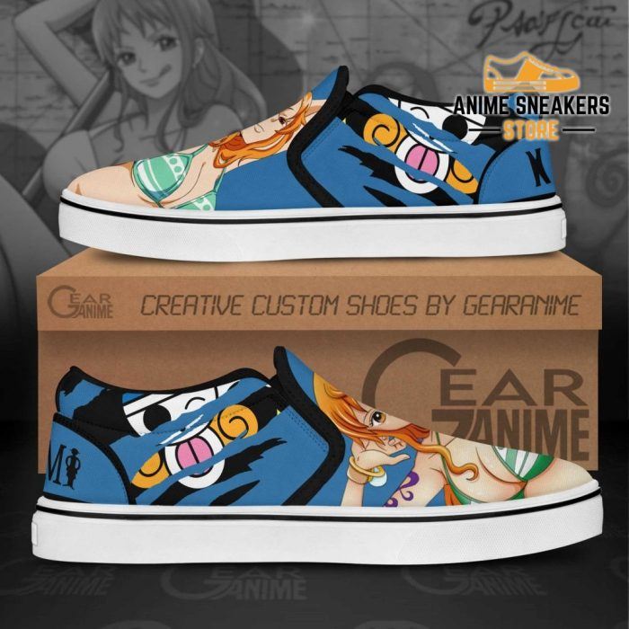 Nami Slip On Shoes One Piece Custom Anime Slip-On