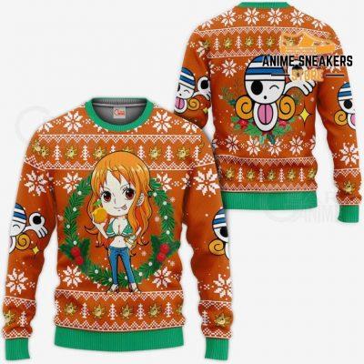 Nami Ugly Christmas Sweater One Piece Anime Xmas Gift Va10 / S All Over Printed Shirts