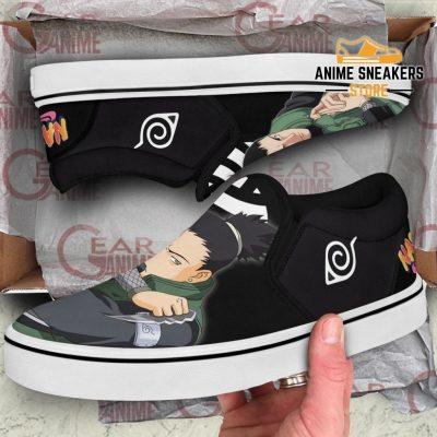 Nara Shikamaru Slip On Shoes Naruto Custom Anime Pn12 Slip-On