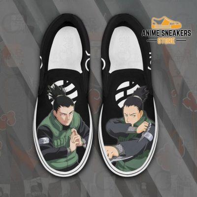 Nara Shikamaru Slip On Shoes Naruto Custom Anime Pn12 Men / Us6 Slip-On