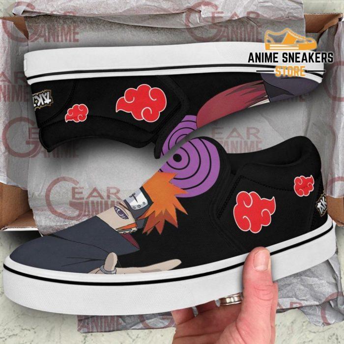 Akatsuki Nagato Pain Slip On Shoes Naruto Custom Anime Pn12 Slip-On