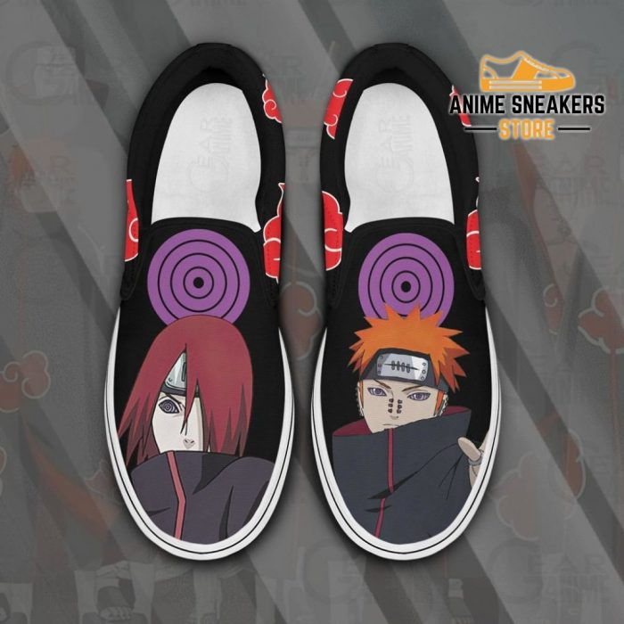 Akatsuki Nagato Pain Slip On Shoes Naruto Custom Anime Pn12 Men / Us6 Slip-On