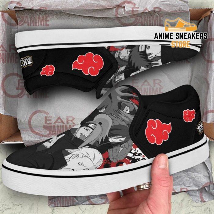 Akatsuki Team Slip On Shoes Naruto Custom Anime Pn12 Slip-On