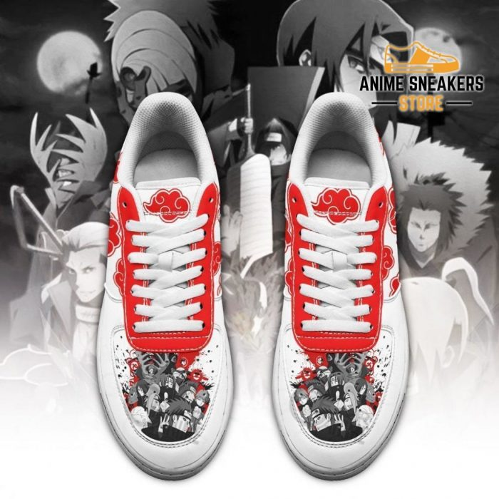Akatsuki Shoes Naruto Anime Custom White Air Force