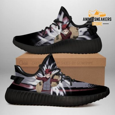 Gaara Jutsu Yeezy Shoes Naruto Anime Fan Gift Idea Tt03 Men / Us6