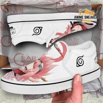 Haruno Sakura Slip On Shoes Naruto Custom Anime Pn12 Slip-On