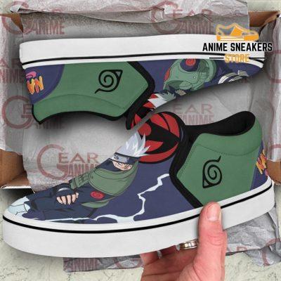 Hatake Kakashi Slip On Shoes Naruto Custom Anime Pn12 Slip-On