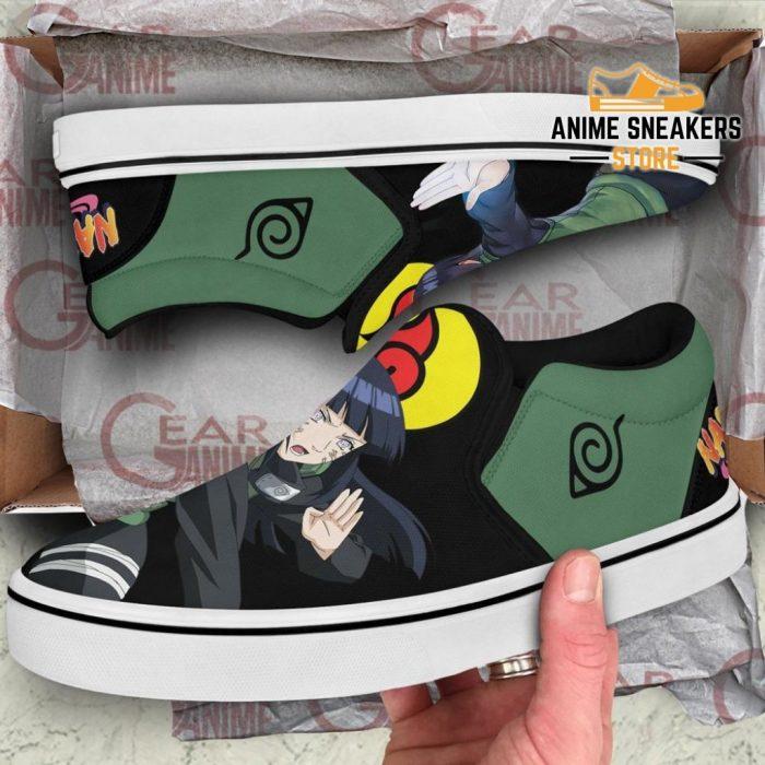 Hyuga Hinata Slip On Shoes Naruto Custom Anime Pn12 Slip-On