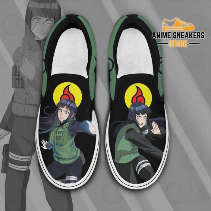 Hyuga Hinata Slip On Shoes Naruto Custom Anime Pn12 Men / Us6 Slip-On