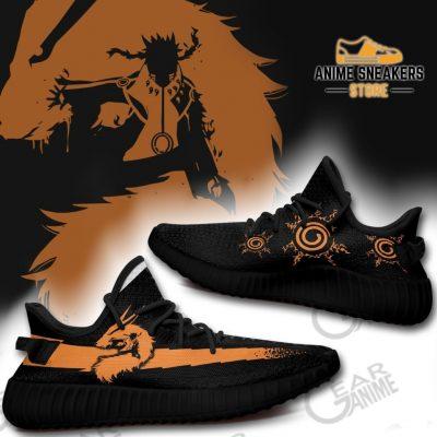 Naruto Kurama Mode Shoes Custom Anime Tt10 Yeezy