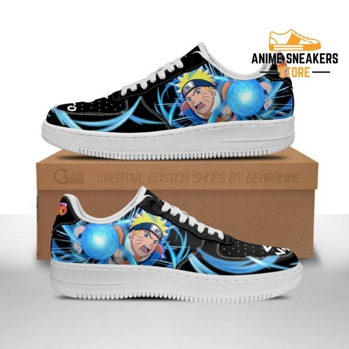 Naruto Sneakers Custom Skill Shoes Anime Leather Men / Us6.5 Air Force