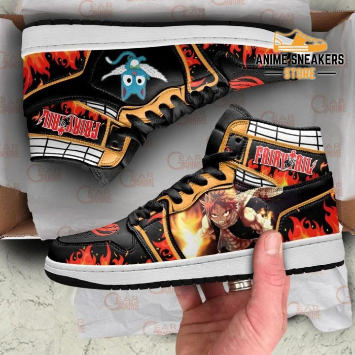 Natsu And Happy Sneakers Fairy Tail Anime Shoes Mn11 Jd